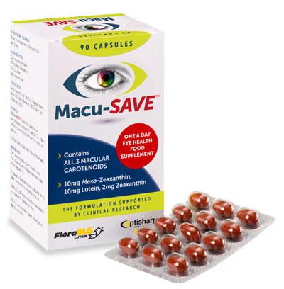 Macu-SAVE Eye Supplement with Meso-Zeaxanthin 90 capsules